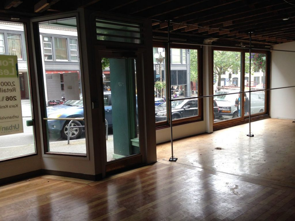 108 cherry, commercial storefront for lease, good arts building