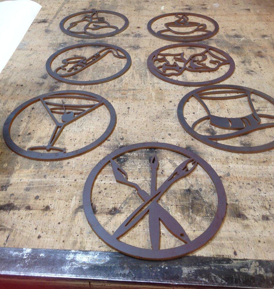 discs, welding, steve coulter, pioneer square, good arts